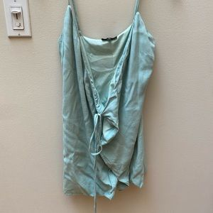 Green Majorelle wrap dress